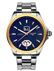 homens guanqin automática auto-liquidação relógio 100m calendário impermeável luminosa cristal de safira relógio de 44 milímetros de pulso