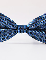 Blue Grid Formal Bow Tie