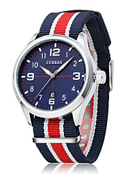 Men watch Quartz Waterproof Sports Watch Calendar Genuine Fabric Wristwatch (Assorted Color) Wrist Watch Cool Watch Unique Watch