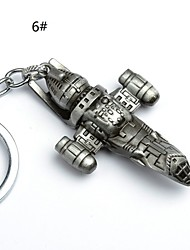Star Wars Spaceship Logo Key Chain The Force Awakens Droid Robot Action Figure stormtrooper Clone Trooper Keychain