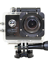 Action Camera 2.0 LTPS LED 170 Degree Wide-Angle 1080P HD Waterproof Sports DV Black