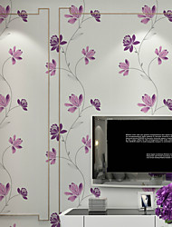 PALUTON Floral Wallpaper Contemporary Wall Covering , Non-woven Paper Pastoral Korean Three-dimensional Flowers warm
