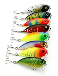 8Pieces Hengjia VIB Baits Vibration  6.6g 55mm Fishing Lure Random Colors