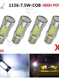 4x белый высокой мощности bau15s 1156py 7.5W хвост тормозной сигнал Светодиодные лампы 7507