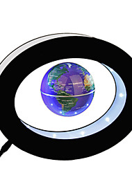 Levitation Floating Globe With O Base Rotating Magnetic Suspended In Air World Map In Blaci & Blue