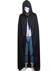 Black Halloween Hooded Cape Wizard/Witch Wedding Cloak Coat Shawl Halloween/Christmas/New Year