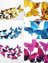 3D DIY Mirror Butterfly Stickers Home Decoration