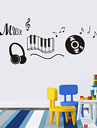 Music Sticker headphones Theme Music Bedroom Decor Dancing Music Note Removable Wall Sticker  Rooms Decor