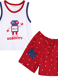Boy Cotton Clothing Set , Summer Sleeveless