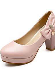 Women's Shoes Leatherette Chunky Heel Heels Heels Wedding / Office & Career / Party