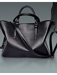 Women PU Shoulder Bag / Tote Gray / Black