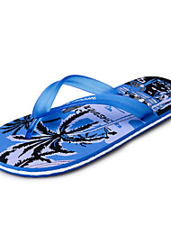 Zapatos de Hombre-Chanclas-Exterior / Casual-Látex-Negro / Azul / Rojo