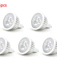5pcs 3W MR16 350LM Warm/Cool White Color Light LED Spot Lights(12V)