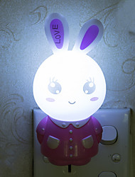 Lovely Rabbit Smart Light Controlled Emergency LED Night Light for Kids Room Home Decoration