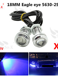 2x 23mm 9w синий водить орла днем глаз работает резервный DRL свет тумана автомобиля авто 12v