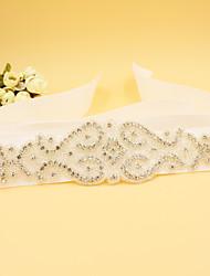 Новая атласная свадьба / вечеринка / вечерняя стрижка - горный хрусталь / имитация жемчужных женщин