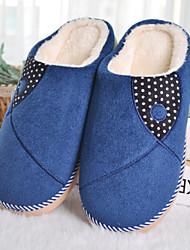 Men's Winter Slippers Fleece Casual Blue / Brown
