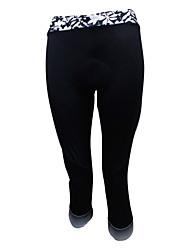 SPAKCT® Fahrrad 3/4 Hosen Damen Atmungsaktiv / Videokompression / 3D Pad Fahhrad Hosen/Regenhose / 3/4 Strumpfhosen/CorsaireElasthan /