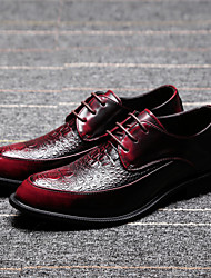 Men's Shoes Amir 2016 New Style Hot Sale Party/Office/Casual Black/Burgundy Patent Leather Oxfords