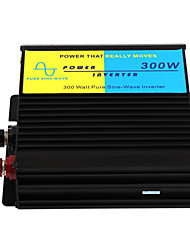 300W Pure Sine Wave Car Power Inverter Charger Adapter 12V Dc To 220V Ac