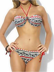 Bikinis Aux femmes Bohème Soutien-gorge à Armatures Bandeau Polyester