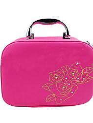 Women PU Professioanl Use Cosmetic Bag Pink / Blue / Green / Red / Black