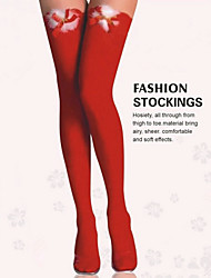 ALL BLUE High Quality Fashion Red Bowknot Sexy High Over the Knee Socks Long Cotton cosplay Stockings
