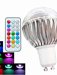 1 pcs SchöneColors GU10 8W High Power LED Dimmable / Remote-Controlled / Decorative RGB LED Globe Bulbs AC 100-240 V
