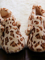Women's Shoes Fleece Flat Heel Slippers Slippers Casual Leopard