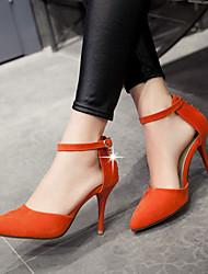 Zapatos de mujer - Tacón Stiletto - Tacones / Puntiagudos - Sandalias / Tacones - Oficina y Trabajo / Vestido / Casual - Semicuero -Negro