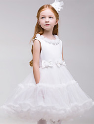 Ball Gown Short/Mini Flower Girl Dress - Tulle Sleeveless