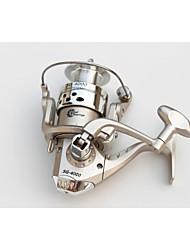 6 Ball Bearings Spinning Reels Gear Ratio 5.1:1 Exchangable hand Spinning Fishing Reel -SG4000 Random Colors
