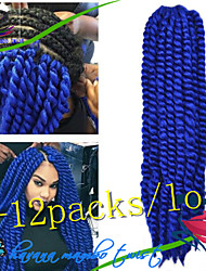 1Pack/Lot 12-24Inch Synthetic Hair Kanekalon Fiber Havana Twist Crochet Braids for Female