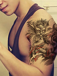 resistente al agua tatuajes temporales gran brazo pegatinas transferencia de tatuaje falso de pulverización atractiva