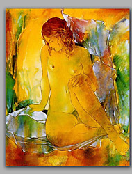Classical Nude Woman Oil Painting Handmade Impression Style