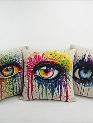 Art Beautiful Sexy Printed Pillow Cover Cotton Linen PillowCase Colorful Cushion Eyes Home Pad Waist Throw Modern Style