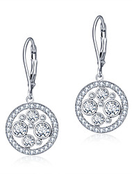 925 Sterling Silver Women Jewelry Fashion High Quality Rhodium Plated Earrings with Cubic Zirconia