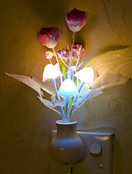 Lovely Mushroom Lamp Smart Light Controlled Emergency LED Night Light for Kids Room Home Decoration(Random Color)