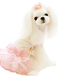 Dog Dress / Clothes/Clothing Blue / Pink Spring/Fall Classic Fashion