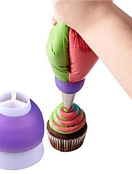 Icing Piping Bag Nozzle Converter Tri-color Cream Coupler Cake Decorating Tools