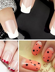 DIY French Manicure Nail Art Decorations Round Form Fringe Guides Nail Sticker