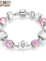 Charm Bracelet for Women With Sapphire Created Blue Gemstone Luxury Pulseras