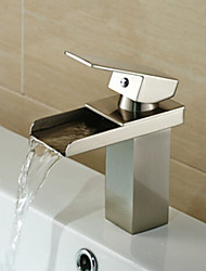 Waterfall Nickel Brushed Hot and Cold Bathroom Faucet
