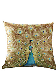 3D Design Print Yellow Peacock Decorative Throw Pillow Case Cushion Cover for Sofa Home Decor Polyester Soft Material