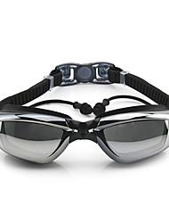 Schwimmbrille Anti-Beschlag Verstellbare Größe Anti - UV - Beschichtung Wasserdicht Kieselgel PC Weiß Grau Schwarz BlauRosa Grau Schwarz