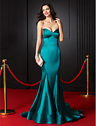 TS Couture Formal Evening Dress - Jade Trumpet/Mermaid Sweetheart Court Train Stretch Satin