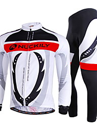 NUCKILY Bike/Cycling Jersey + Pants/Jersey+Tights / Arm Warmers / Clothing Sets/Suits Men's Long SleeveBreathable / Ultraviolet Resistant