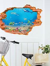 Creative Wall Aquarium Underwater World Fashion Personality Creative 3D Wall Stickers