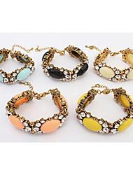 Vintage / Casual Alloy / Resin Beaded Bracelet
