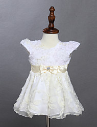 Robe Fille de Eté Coton Marron
